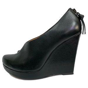 ELLA MOSS PLATFORM WEDGE BOOTIES black size 8.5